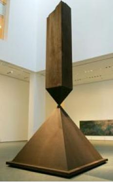 sculpture broken obelisk