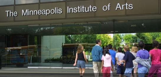 front of Minneapolis Institute of Arts