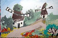 هذه الصور رسمها فنان اعمى ....... سبحان الله ...!!!! Esref-windmills