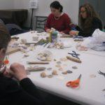 Participants doing crafts